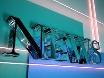 Zeichen der Nachrichten 3D Lizenzfreies Stockbild
