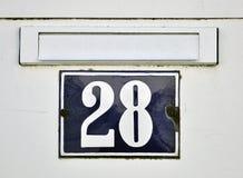 Zeichen der Nr. achtundzwanzig Stockbilder