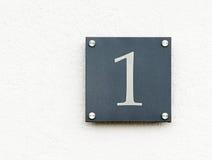 Zeichen der Nr. eine Lizenzfreies Stockbild