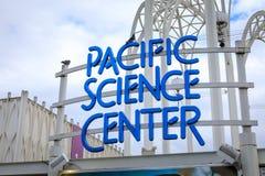 Zeichen der pazifischen Wissenschafts-Mitte in Seattle Lizenzfreie Stockfotografie