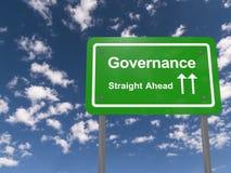Zeichen der Regierungsgewalt voran Lizenzfreies Stockfoto
