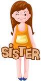 Zeichen der Schwester Lizenzfreie Stockfotos