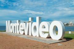 Zeichen der Stadt von Montevideo Stockbilder