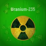 Zeichen der Strahlung Uran 235 Stockbild