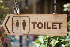 Zeichen der Toilette Stockbilder
