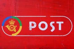 Zeichen des dänischen Postdiensts Stockbild