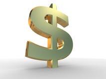Zeichen des Dollars 3D Lizenzfreie Stockfotografie