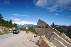 Zeichen des Estes Parks lizenzfreies stockbild