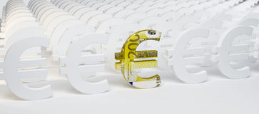 Zeichen des Euro 3D Lizenzfreie Stockfotografie