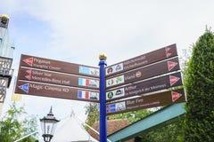 Zeichen des Europa-Parks im Rost, Deutschland Lizenzfreies Stockfoto