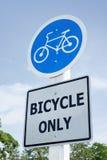Zeichen des Fahrrades nur Stockbild