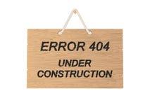 Zeichen des Fehlers 404 Stockfotos