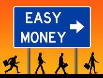 Zeichen des flüssigen Geldes lizenzfreie abbildung
