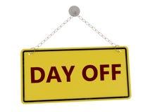 Zeichen des freien Tages Stockfotografie