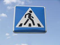 Zeichen des Fußgängerübergangs Lizenzfreies Stockfoto