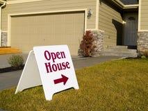 Zeichen des geöffneten Hauses lizenzfreies stockbild