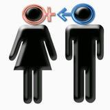 Zeichen des Geschlechtsunterschiedes Stockfoto