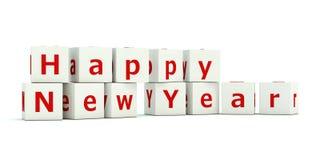 Zeichen des glücklichen neuen Jahres Stockfotos
