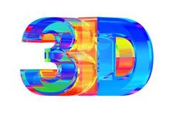 Zeichen des Glases 3D Stockfotografie