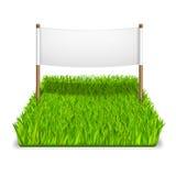 Zeichen des grünen Grases Stockbilder