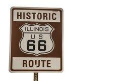 Zeichen des Illinois-Weg-66 Lizenzfreie Stockbilder