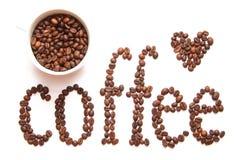 Zeichen des Kaffees Stockfotos