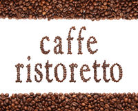 Zeichen des Kaffees Stockfotografie