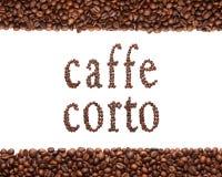Zeichen des Kaffees Stockfoto