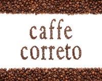 Zeichen des Kaffees Lizenzfreies Stockfoto