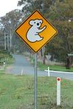 Zeichen des Koala voran Stockfotografie