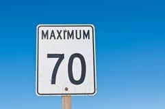 Zeichen des Maximum-70 Lizenzfreie Stockfotografie