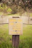 Zeichen des Naturbereiches. Lizenzfreie Stockfotografie