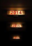 Zeichen des neuen Jahres 2014 Stockbilder