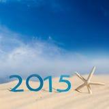 Zeichen des neuen Jahres 2015 Stockfotografie