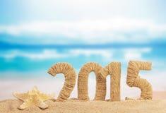 Zeichen des neuen Jahres 2015 Stockbilder