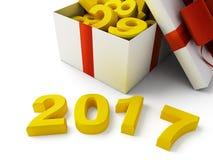 Zeichen 2017 des neuen Jahres Stockfotografie