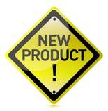 Zeichen des neuen Produktes Stockbild