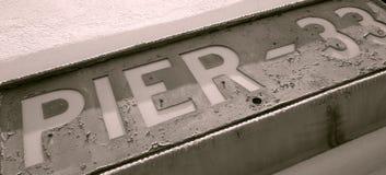 Zeichen des Piers 33 Lizenzfreie Stockfotos