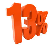 Zeichen des Prozent-Rabatt-3d Stockbild