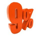 Zeichen des Prozent-Rabatt-3d Lizenzfreie Stockbilder