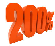 Zeichen des Prozent-Rabatt-3d Stockbilder