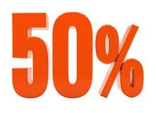 Zeichen des Prozent-Rabatt-3d Stockfotos