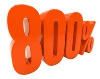Zeichen des Prozent-Rabatt-3d Stockfotografie