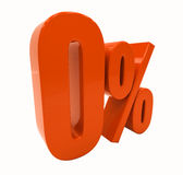 Zeichen des Prozent-Rabatt-3d Lizenzfreies Stockbild