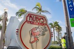 Zeichen des Restaurants des Rubins Lizenzfreie Stockfotografie