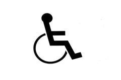 Zeichen des Rollstuhls lizenzfreie stockbilder