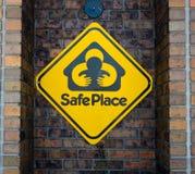 Zeichen des sicheren Hafens Stockfoto
