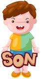 Zeichen des Sohns Stockbilder