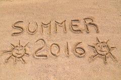 Zeichen des Sommers 2016 Stockfotos