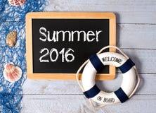 Zeichen des Sommers 2016 Stockbild